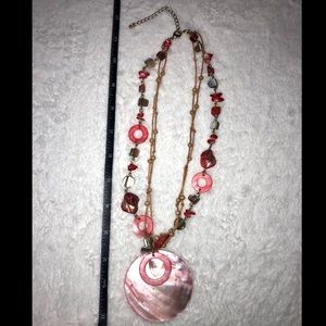💎BOGO FREE! Pink and red shell boho necklace!🐚💎